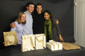 laura, russell, steve, and i proudly display our gamla stan models